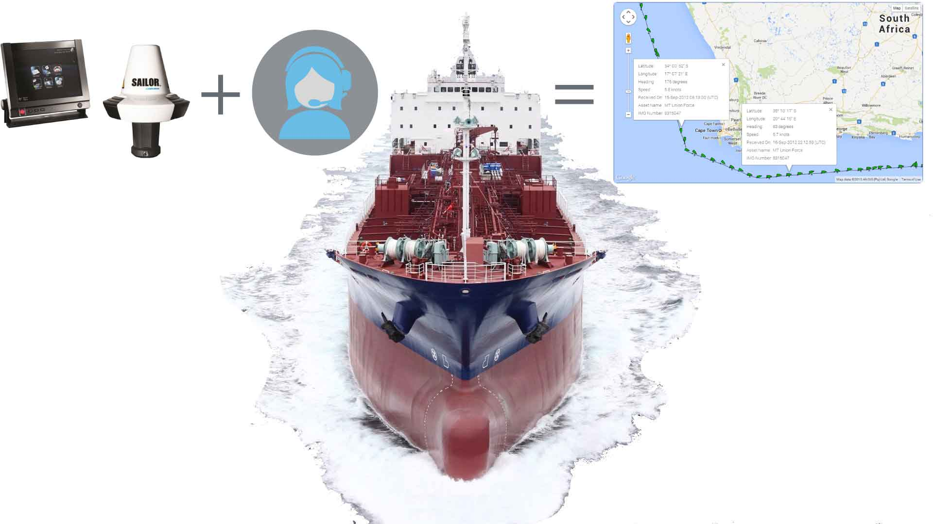 Sat-c hardware supports vessel tracking