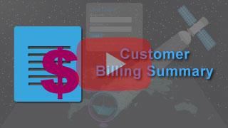 Customer billing summary in falcon mega track
