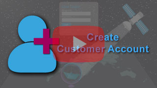 create customer account in falcon mega track