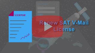 renew sat v-mail license in falcon mega track